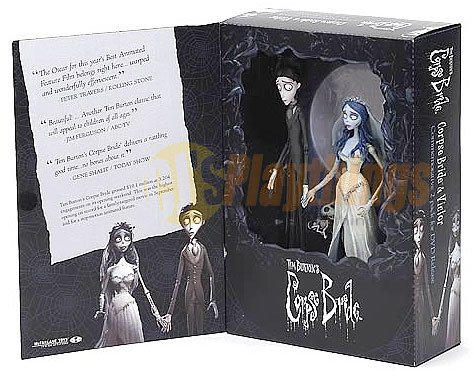 Mcfarlane Corpse Bride Movie Poster Action Figure Set Victor & Emily w/ the dog
