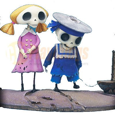 Mcfarlane Corpse Bride Action Figure Series 1 Skeleton Boy & Girl