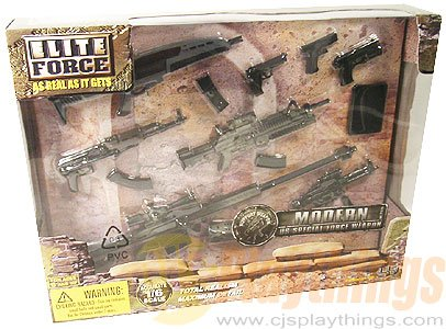 BBI ELITE FORCE US ARMY SUPPORT WEAPON SET w/ XM8 1/6 LOOSE