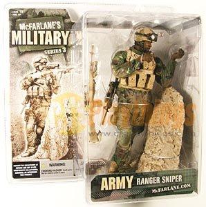 Mcfarlane Military series 3 Army Ranger Sniper African American Black