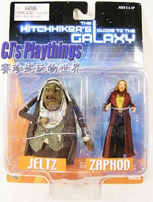 """The Hitchhiker's Guide to the 3"""" GALAXY JELTZ & ZAPHOD 2-PACK Figure"""