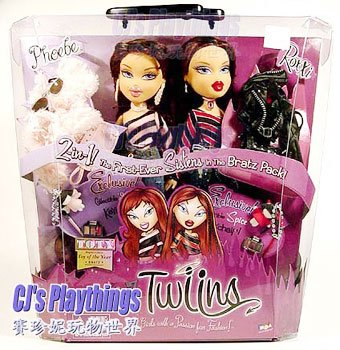 Bratz Twinz Twins Phoebe & Roxxi Doll 2 dolls in 1