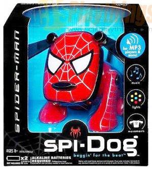 Spi-Dog SpiDog Spider-Man MP3/CD/IPOD NANO I-DOG IDOG Spiderman