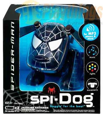 Spi-Dog SpiDog Revision Black Spider-Man MP3/CD/IPOD NANO I-DOG IDOG Spiderman