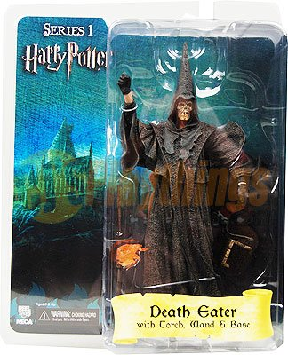 NECA Harry Potter Series 1 Skull Face Death Eater w/ Torch Wand & Base New in Stock