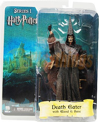 NECA Harry Potter Series 1 Death Eater w/ Wand & Base New in Stock