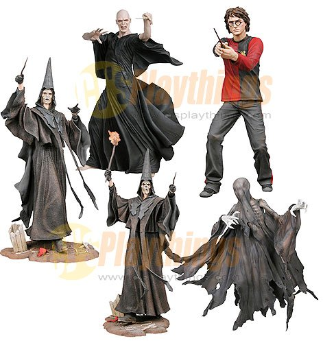 NECA Harry Potter Series 1 set of 5 w/ Voldemort Dememtor Skull Face Death Eater