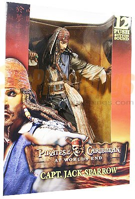 "NECA PIRATES OF CARIBBEAN At World's End 12"" Jack Sparrow w/ sound Talking"