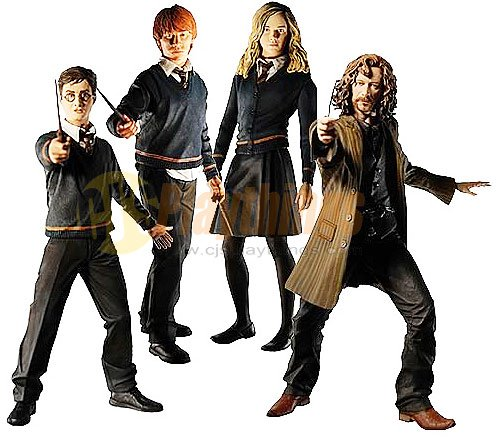 NECA Harry Potter Order of the Phoenix Series 1 set of 4 w/ Ron Hermione Sirius Black