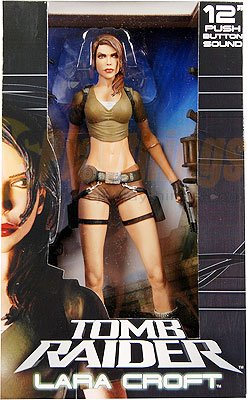 "NECA Player Select Tomb Raider Legend 12"" Talking Lara Croft w/ sound"