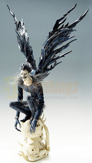 "Death Note Ryuk Craft Label 20"" Statue w/ wings & base"