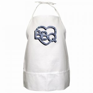 BBQ Brand Barbeque Kitchen Apron with Pockets  - 13287379