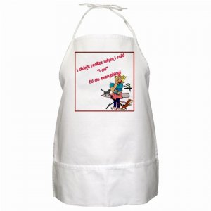 I Do Everything BBQ Kitchen Apron with Pockets  - 13306214