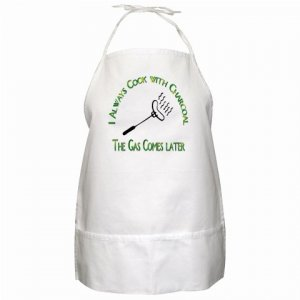 I Always Cook with Charcoal BBQ Kitchen Apron with Pockets - 13310859