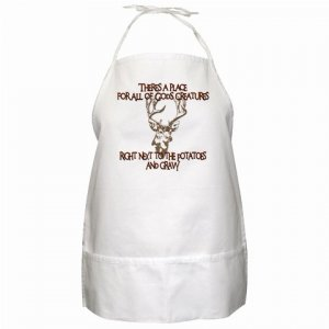 Funny Sportsman BBQ Kitchen Apron with Pockets - 13306256