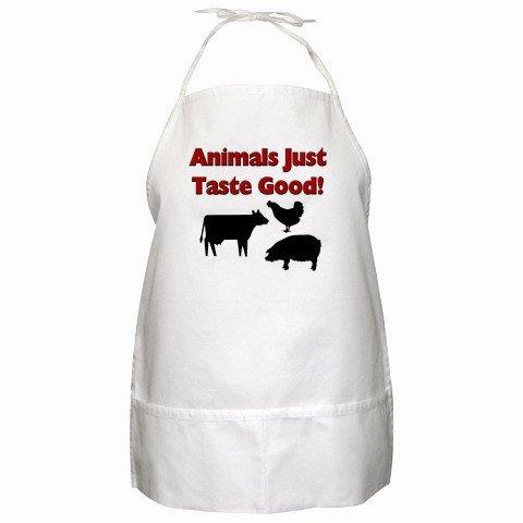 Animals Just Taste Good BBQ Kitchen Apron with Pockets - 13287679