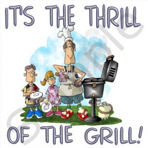 The Thrill of the Grill BBQ Kitchen Apron with Pockets -13310285