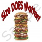 """""""Size DOES Matter"""" BBQ Kitchen Apron with Pockets - 14299333"""