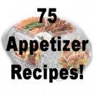 75 Appetizer RECIPES  Cookbook Ebook
