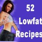 52 LOWFAT DIET RECIPES  Cookbook Ebook