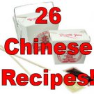 26 Chinese food  RECIPES  Cookbook Ebook