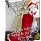 50 pages Homemade Christmas Recipes EBook Cookbook