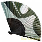 Bamboo Folding Fan Sensu Daiso Japan - Mt. Fuji 1.2 x 9.1 in (835540)