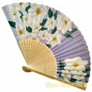 Bamboo Folding Fan Sensu Daiso Japan - Chinese Bellflower Blue 1.2 x 8.3 in (835489)