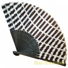 Bamboo Folding Fan Sensu Daiso Japan - Grid 1.2 x 9.1 in (835533)