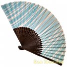 Bamboo Folding Fan Sensu Daiso Japan - Irregular Stripes 1.2 x 9.1 in (835526)
