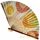 Bamboo Folding Fan Sensu Daiso Japan - Sunflowers 1.2 x 8.3 in (835588)