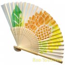 Bamboo Folding Fan Sensu Daiso Japan - Sunflower 1.2 x 8.3 in (835588)