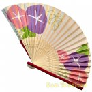 Bamboo Folding Fan Sensu Daiso Japan - Morning Glory Pink 1.2 x 8.3 in (835564)