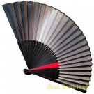 Bamboo Folding Fan Sensu Daiso Japan - Chic Gradation Color Black 1.2 x 9.1 in (835557)