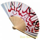 Bamboo Folding Fan Sensu Daiso Japan - Kabuki 1.2 x 8.3 in (835649)