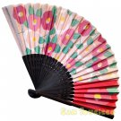 Bamboo Folding Fan Sensu Daiso Japan - Camelia Pink 1.2 x 8.3 in (835410)