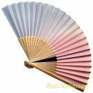 Bamboo Folding Fan Sensu Daiso Japan - Pastel Gradation Color Purple 1.2 x 8.3 in (835519)