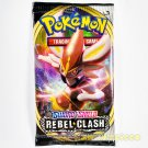 Pokemon TCG Sword Shield Rebel Clash - 1 SINGLE Booster Pack (10 Random Cards)
