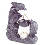 Porcelain Oil Burner - Marblelized Dolphins