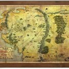 The Lord of the Rings: Map of Middle-earth The Hobbit the noble collection
