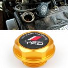 Gold TRD Toyota Racing Development Engine Oil Filter Valve Cover Gasket Cap Aluminum 1218028021
