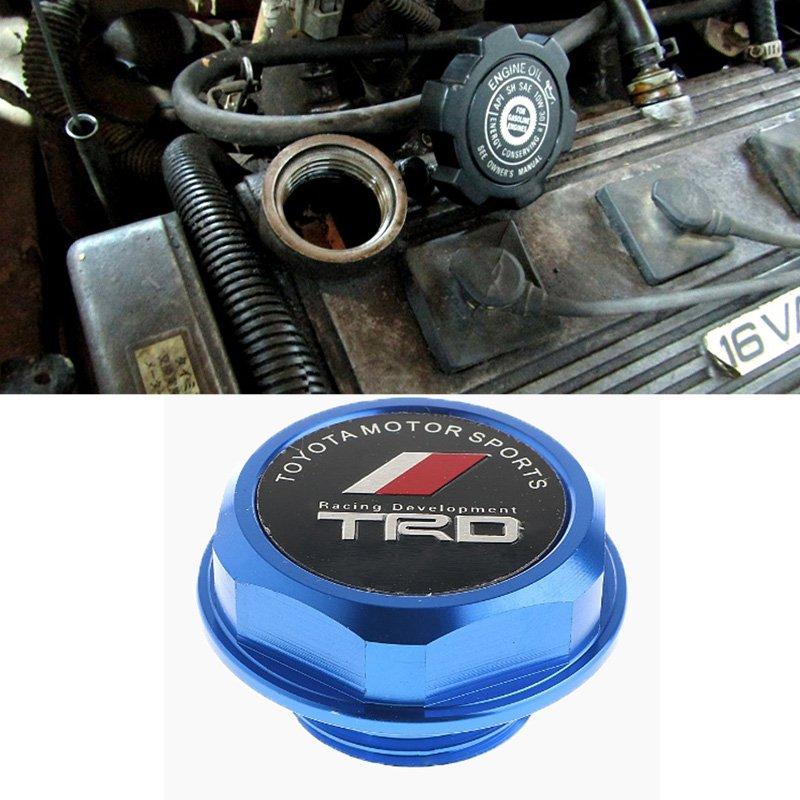 Blue TRD Toyota Racing Development Engine Oil Filter Valve Cover Gasket Cap Aluminum 1218028021