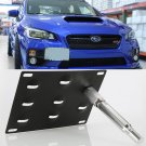 Front Bumper Tow Hook License Plate Mounting Bracket Holder For 2015-Up Subaru WRX
