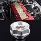 Silver Mugen Acura Honda Engine Oil Filter Valve Cover Gasket Cap Aluminum 15610PCXA01