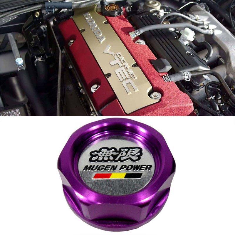 Purple Mugen Acura Honda Engine Oil Filter Valve Cover Gasket Cap Aluminum 15610PCXA01