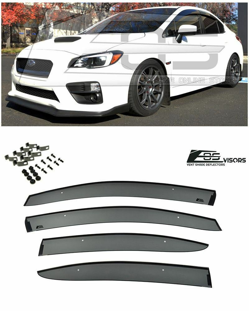 For 15-Up Subaru WRX STi JDM Injection Side Window Visors Durable Rain Guard