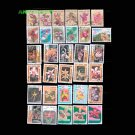 50PCS All Different Topic Plants Flower Orchid Unused Postage Stamps With Post Mark For Collection