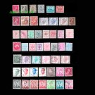 45Pcs Belgium Old Vintage Postage Stamps With Post Mark For Collection