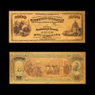 USA 1875 24k Gold Banknotes Fake Money Bills 1000 Dollar Banknote For Collections