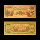 1875 US Gold Banknotes $10 Dollar Money Banknote in 24k Gold For Collections
